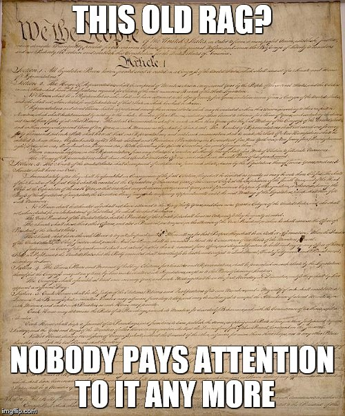 THIS OLD RAG? NOBODY PAYS ATTENTION TO IT ANY MORE | made w/ Imgflip meme maker