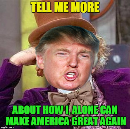TELL ME MORE ABOUT HOW I, ALONE CAN MAKE AMERICA GREAT AGAIN | made w/ Imgflip meme maker
