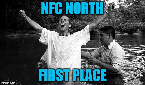 NFC NORTH FIRST PLACE | made w/ Imgflip meme maker