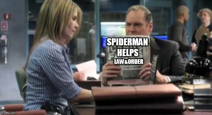 SPIDERMAN HELPS LAW&ORDER | made w/ Imgflip meme maker