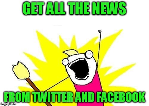 X All The Y Meme | GET ALL THE NEWS FROM TWITTER AND FACEBOOK | image tagged in memes,x all the y | made w/ Imgflip meme maker