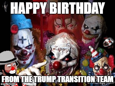1e71k7 happy birthday from trump transition team imgflip,Halloween Happy Birthday Meme