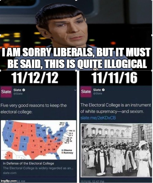 Captain. It appears we have reached the bottom. |  I AM SORRY LIBERALS, BUT IT MUST BE SAID, THIS IS QUITE ILLOGICAL | image tagged in spock illogical,memes,hypocrisy,liberal logic,election 2016 | made w/ Imgflip meme maker