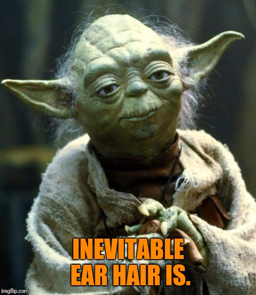 Star Wars Yoda Meme | INEVITABLE EAR HAIR IS. | image tagged in memes,star wars yoda | made w/ Imgflip meme maker
