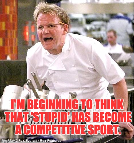 Image result for stupid competition