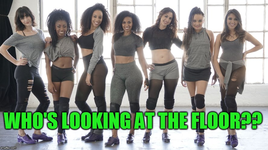 WHO'S LOOKING AT THE FLOOR?? | made w/ Imgflip meme maker