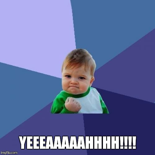 Success Kid Meme | YEEEAAAAAHHHH!!!! | image tagged in memes,success kid | made w/ Imgflip meme maker