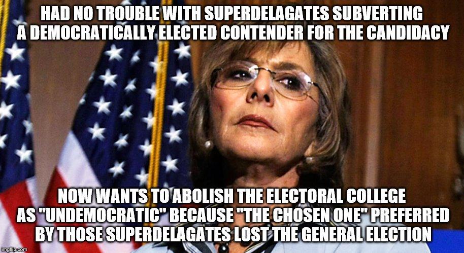 1ea30k image tagged in electoral college,barbara boxer imgflip,Electoral College Memes