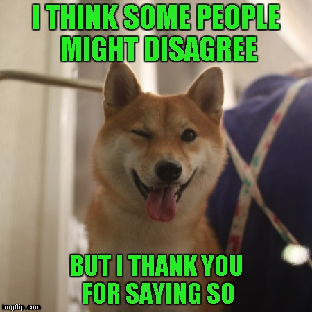 I THINK SOME PEOPLE MIGHT DISAGREE BUT I THANK YOU FOR SAYING SO | made w/ Imgflip meme maker
