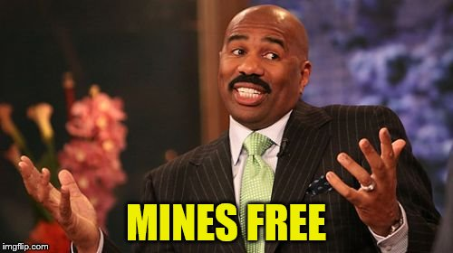 Steve Harvey Meme | MINES FREE | image tagged in memes,steve harvey | made w/ Imgflip meme maker