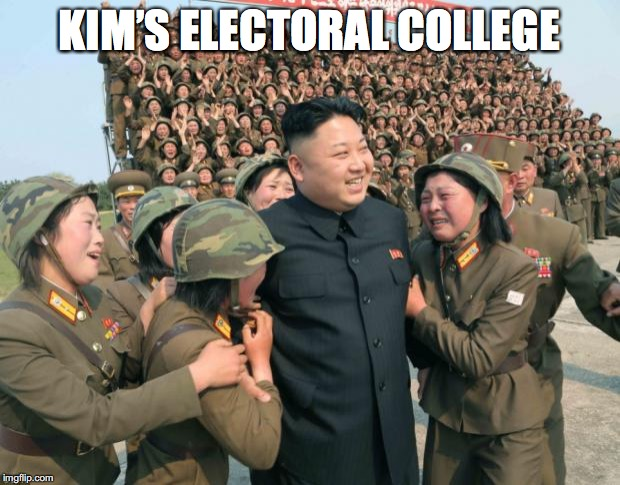 KIM'S ELECTORAL COLLEGE | made w/ Imgflip meme maker