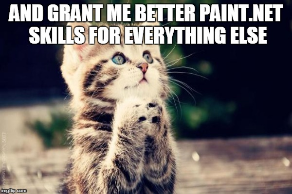 AND GRANT ME BETTER PAINT.NET SKILLS FOR EVERYTHING ELSE | made w/ Imgflip meme maker