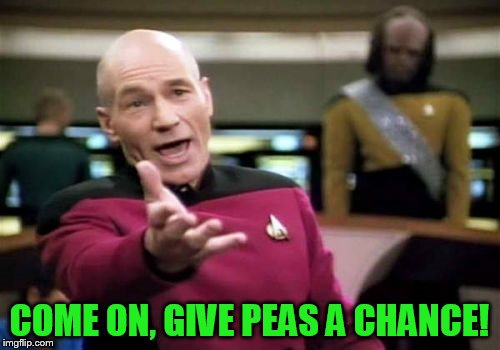 Picard Wtf Meme | COME ON, GIVE PEAS A CHANCE! | image tagged in memes,picard wtf | made w/ Imgflip meme maker