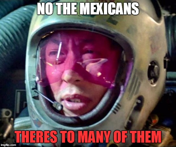 Star Wars Too Many Of Them |  NO THE MEXICANS; THERES TO MANY OF THEM | image tagged in star wars too many of them | made w/ Imgflip meme maker