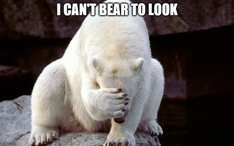 I CAN'T BEAR TO LOOK | made w/ Imgflip meme maker