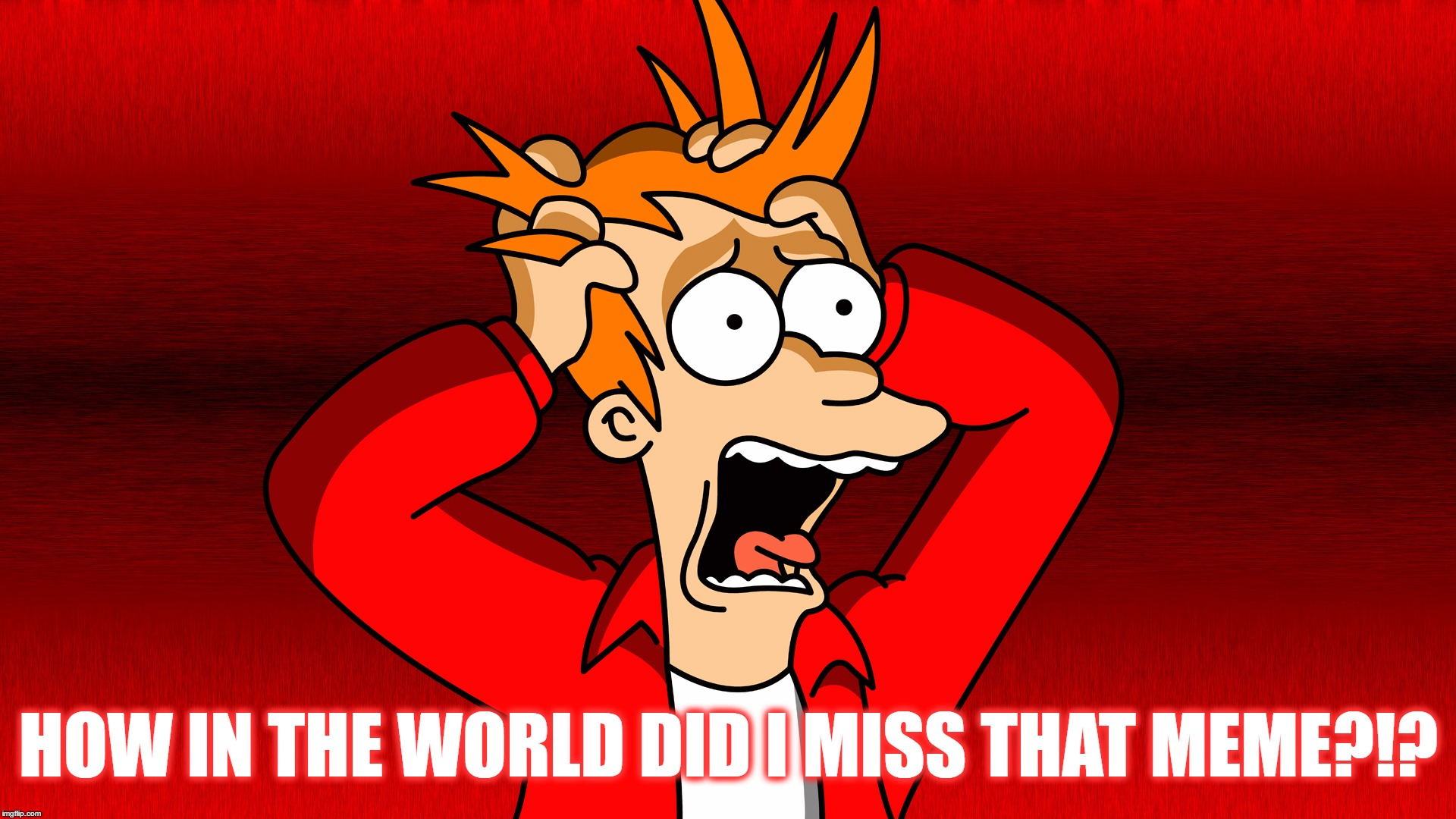 Fry Panic | HOW IN THE WORLD DID I MISS THAT MEME?!? | image tagged in fry panic | made w/ Imgflip meme maker