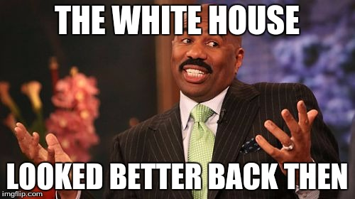 Steve Harvey Meme | THE WHITE HOUSE LOOKED BETTER BACK THEN | image tagged in memes,steve harvey | made w/ Imgflip meme maker