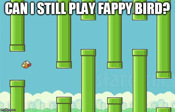 CAN I STILL PLAY FAPPY BIRD? | made w/ Imgflip meme maker