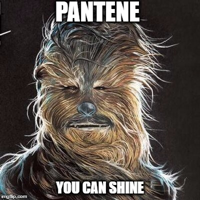 You can shine. |  PANTENE; YOU CAN SHINE | image tagged in pantene,wookie,pantene wookie,chewbacca,hair,shine | made w/ Imgflip meme maker