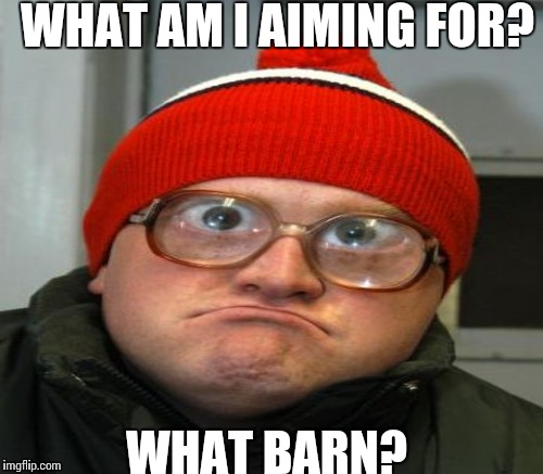 WHAT AM I AIMING FOR? WHAT BARN? | made w/ Imgflip meme maker