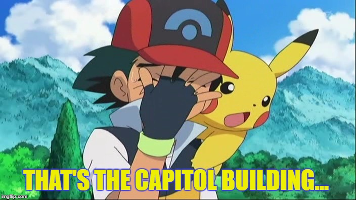 Ash Ketchum Facepalm | THAT'S THE CAPITOL BUILDING... | image tagged in ash ketchum facepalm | made w/ Imgflip meme maker