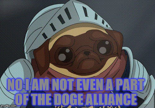 NO I AM NOT EVEN A PART OF THE DOGE ALLIANCE | made w/ Imgflip meme maker