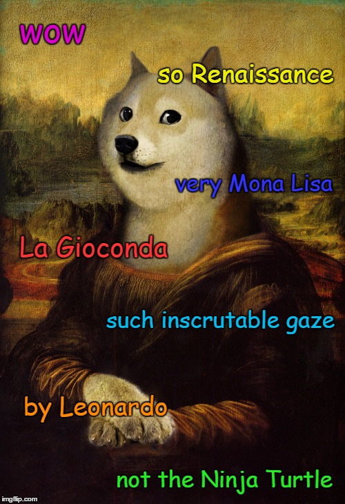 wow not the Ninja Turtle such inscrutable gaze La Gioconda so Renaissance very Mona Lisa by Leonardo | made w/ Imgflip meme maker