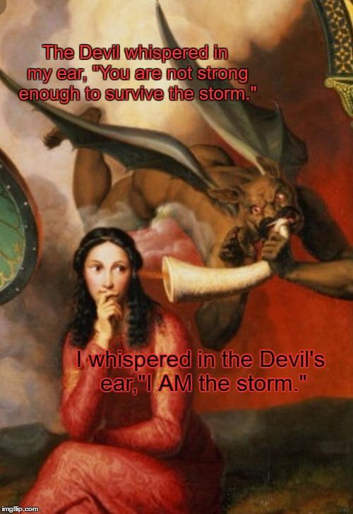 Devil whispering in ear