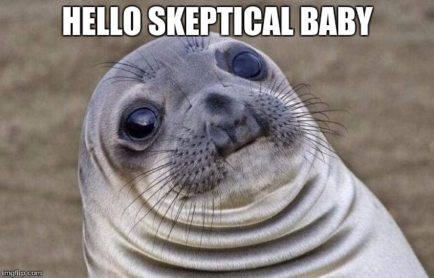 Awkward Moment Sealion Meme | HELLO SKEPTICAL BABY | image tagged in memes,awkward moment sealion | made w/ Imgflip meme maker