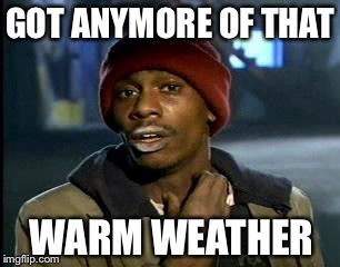 There's a chill in the air | GOT ANYMORE OF THAT WARM WEATHER | image tagged in memes,yall got any more of | made w/ Imgflip meme maker