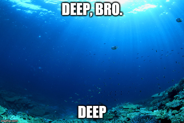 DEEP, BRO. DEEP | made w/ Imgflip meme maker
