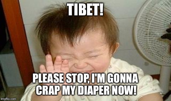 TIBET! PLEASE STOP, I'M GONNA CRAP MY DIAPER NOW! | made w/ Imgflip meme maker