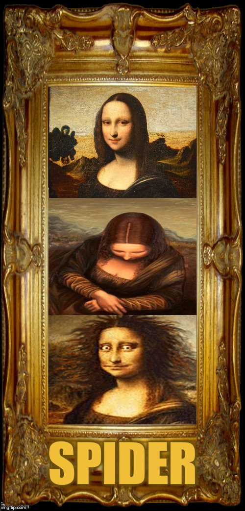 Newly discovered long lost meme.  | SPIDER | image tagged in memes,mona lisa,spider,arghhh | made w/ Imgflip meme maker