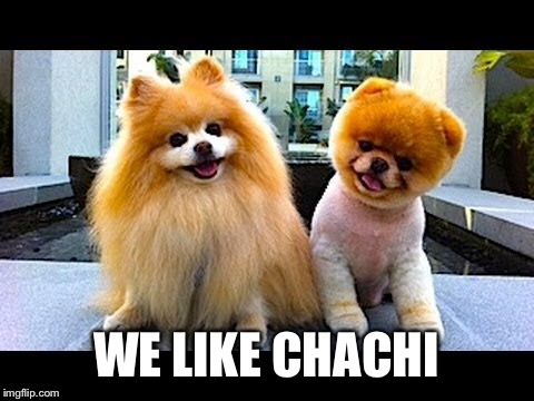 WE LIKE CHACHI | made w/ Imgflip meme maker