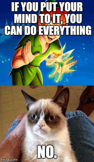 Grumpy Cat Does Not Believe | IF YOU PUT YOUR MIND TO IT, YOU CAN DO EVERYTHING NO. | image tagged in memes,grumpy cat does not believe,grumpy cat | made w/ Imgflip meme maker