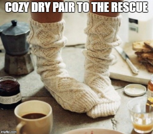 COZY DRY PAIR TO THE RESCUE | made w/ Imgflip meme maker