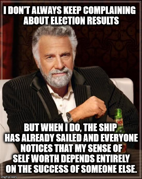 "I'm guilty of beating the rotting corpse of many a dead horse, but the ""Hillary should have won"" horse is now a puddle of guts. 