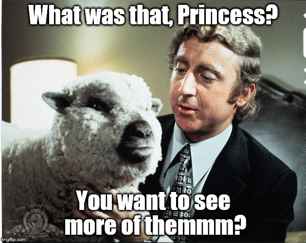 Baaa | What was that, Princess? You want to see more of themmm? | image tagged in baaa | made w/ Imgflip meme maker