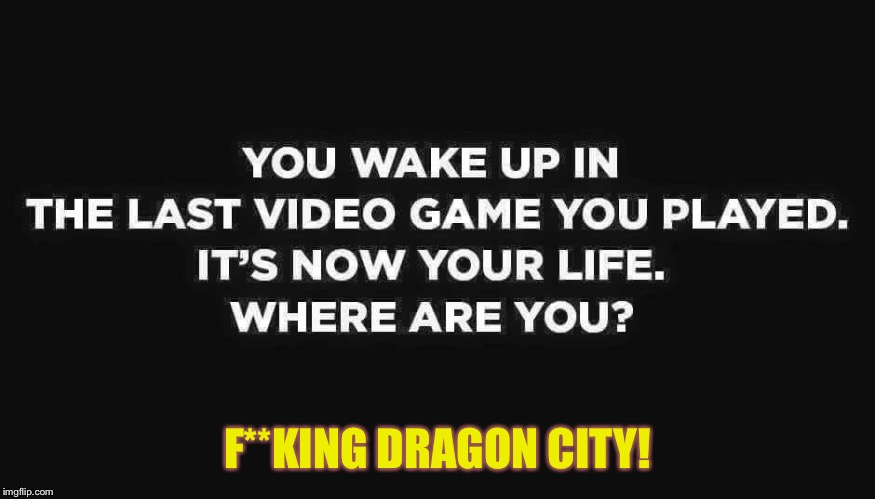 Your video game is your life | F**KING DRAGON CITY! | image tagged in video games,dragon city | made w/ Imgflip meme maker