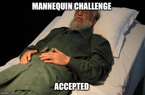 Fidel castro | MANNEQUIN CHALLENGE ACCEPTED | image tagged in fidel castro,mannequin,challenge,challenge accepted | made w/ Imgflip meme maker