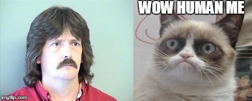Grumpy Cats Father | WOW HUMAN ME | image tagged in memes,grumpy cats father,grumpy cat | made w/ Imgflip meme maker