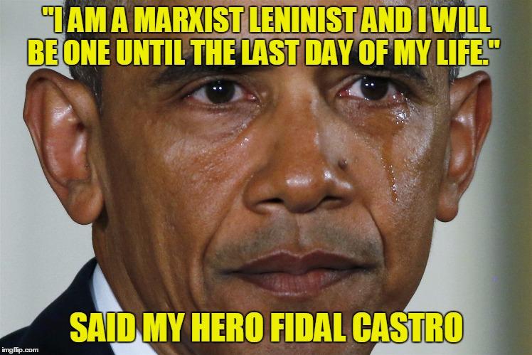 1evnzk obama says goodbye to his hero fidal castro imgflip