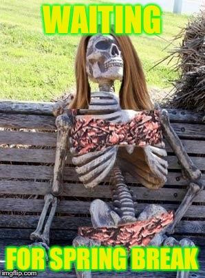 Image Tagged In Funnymemeswaiting Skeletonspring Break Imgflip