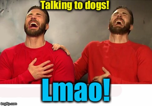 Talking to dogs! Lmao! | made w/ Imgflip meme maker
