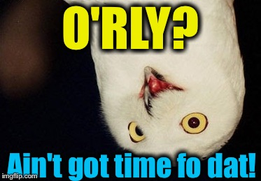 O'RLY? Ain't got time fo dat! | made w/ Imgflip meme maker