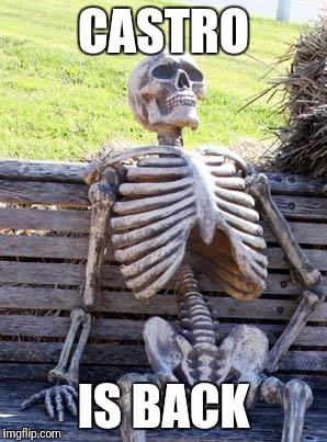 Waiting Skeleton Meme | CASTRO IS BACK | image tagged in memes,waiting skeleton | made w/ Imgflip meme maker