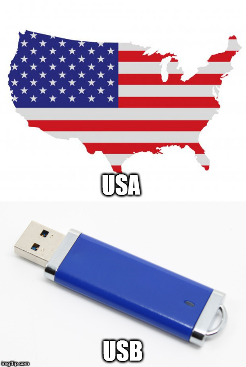 USA USB | image tagged in america,usb | made w/ Imgflip meme maker