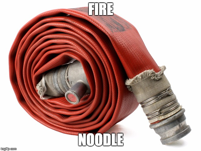 Names for things #4 |  FIRE; NOODLE | image tagged in memes,fire hose,funny,fire nooodle,fire,names for things | made w/ Imgflip meme maker