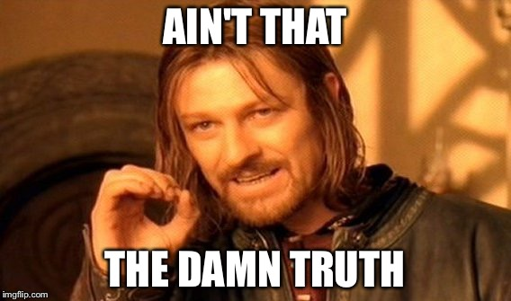 One Does Not Simply Meme | AIN'T THAT THE DAMN TRUTH | image tagged in memes,one does not simply | made w/ Imgflip meme maker