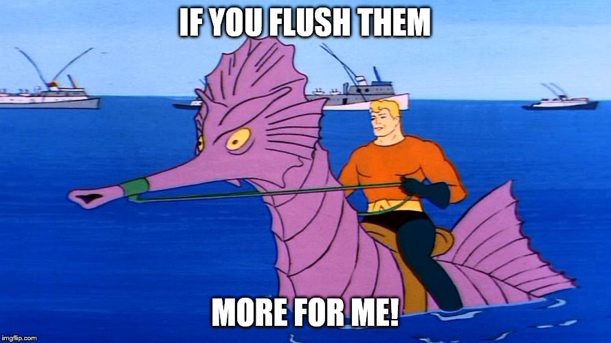 IF YOU FLUSH THEM MORE FOR ME! | made w/ Imgflip meme maker